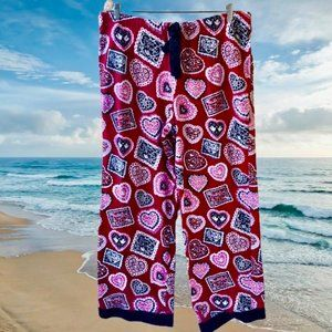 Nick & Nora Pajama PJ Lounge Bottoms Pants HEARTS